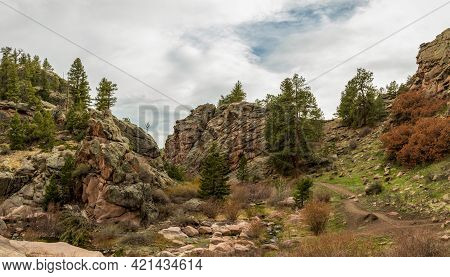 Paradise Cove / Guffey Gorge Park Near Colorado Springs, Colorado In A Spring Afternoon