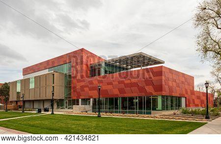 Colorado Springs, Colorado - May 15, 2021: Tutt Library In Colorado Springs, Colorado