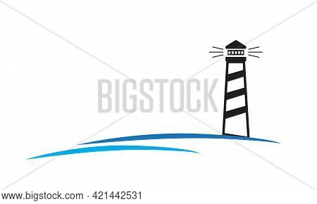 Building Of Lighthouse, Beacon Company Logo Design Template