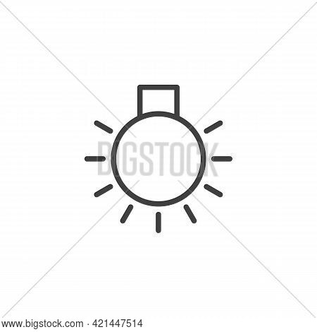 Car Master Lighting Line Icon. Linear Style Sign For Mobile Concept And Web Design. Lamp Light Outli