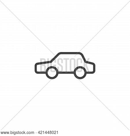 Car, Transportation Line Icon. Linear Style Sign For Mobile Concept And Web Design. Sedan Car Outlin