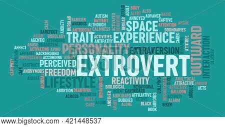 Extrovert Personality Concept of Human Psychology Character