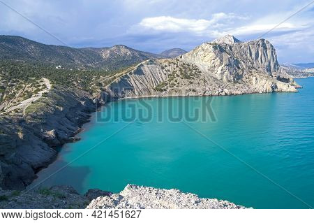 Beautiful Seascape. . A Small Bay On The Black Sea Coast, Known In Local Toponymy As