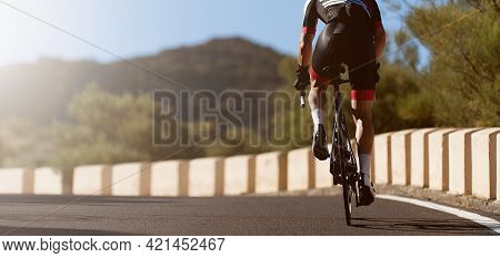 Road Bike Cyclist Man Cycling, Athlete On A Race Cycle
