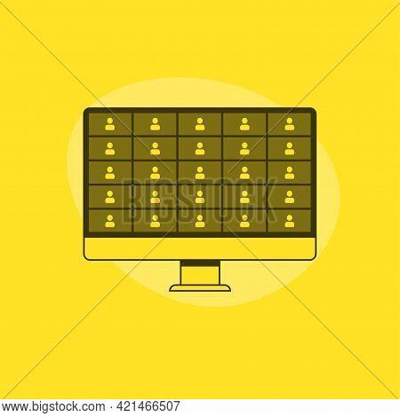 Online Webinar, Meeting. 25 Users. Webinars And Web Meetings At The Level Of Colleagues, Modern Educ
