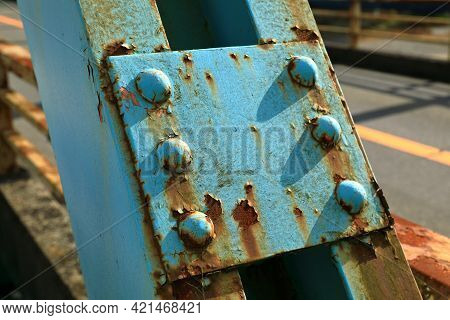 Rust Of Metals. Corrosion Of Metal. Rust And Corrosion In The Weld. Corrosive Rust On Old Iron, Grun
