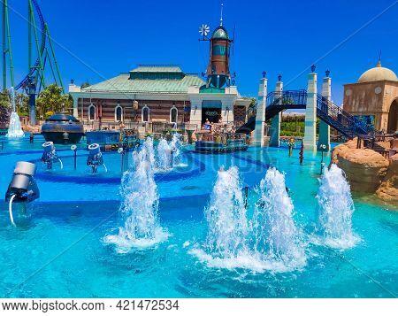 Belek, Antalya, Turkey - May 15, 2021: The Land Of Legends Theme Park In Belek.