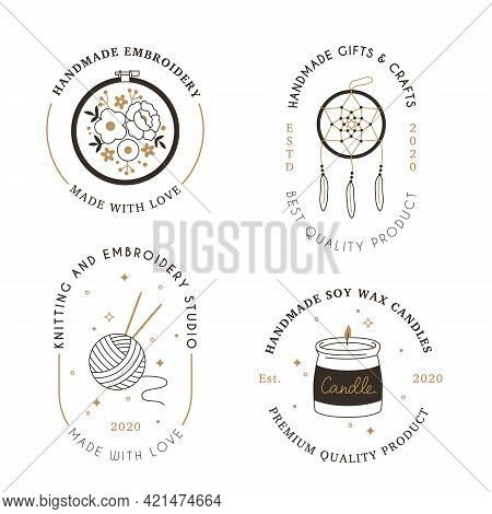 Signs Handmade Workshop. Products Craft Hipster Linear Black White And Gold Emblems, Hobbies And Cre