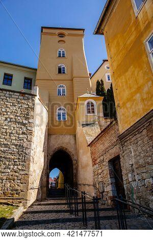 Libocanska Brana, Libocany Gate, City Walls, Tower, Narrow Passage, Historical Buildings, Medieval T