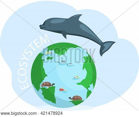 Biodiversity, Conservation Of Nature And Environmental Protection. Flora And Fauna On Earth. Green E