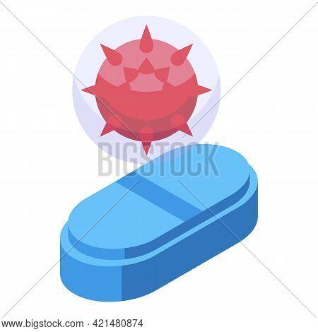 Antibiotic Resistance Icon. Isometric Of Antibiotic Resistance Vector Icon For Web Design Isolated O
