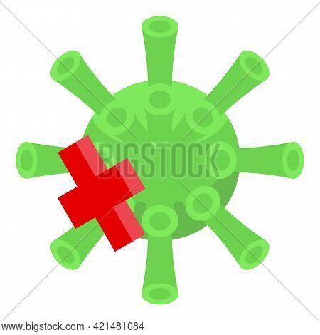 No Virus Antibiotic Resistance Icon. Isometric Of No Virus Antibiotic Resistance Vector Icon For Web