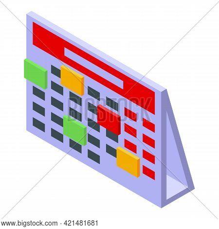 Task Schedule Calendar Icon. Isometric Of Task Schedule Calendar Vector Icon For Web Design Isolated