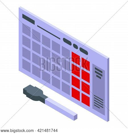 Task Schedule Wall Calendar Icon. Isometric Of Task Schedule Wall Calendar Vector Icon For Web Desig