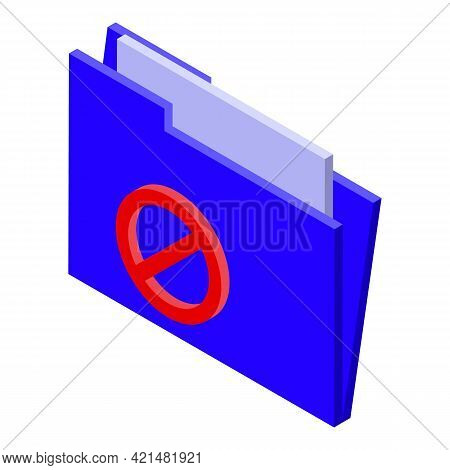 Folder Ssl Certificate Icon. Isometric Of Folder Ssl Certificate Vector Icon For Web Design Isolated