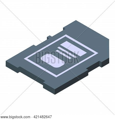 Sd Card Backup Icon. Isometric Of Sd Card Backup Vector Icon For Web Design Isolated On White Backgr