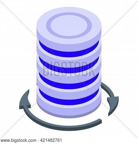 Server Backup Icon. Isometric Of Server Backup Vector Icon For Web Design Isolated On White Backgrou
