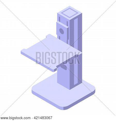 Ergonomic Height Table Icon. Isometric Of Ergonomic Height Table Vector Icon For Web Design Isolated