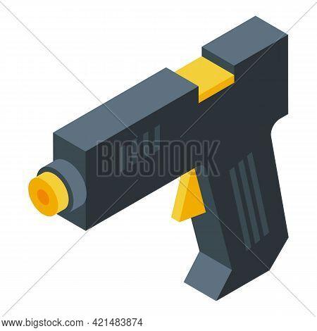 Silicone Caulk Gun Construction Icon. Isometric Of Silicone Caulk Gun Construction Vector Icon For W
