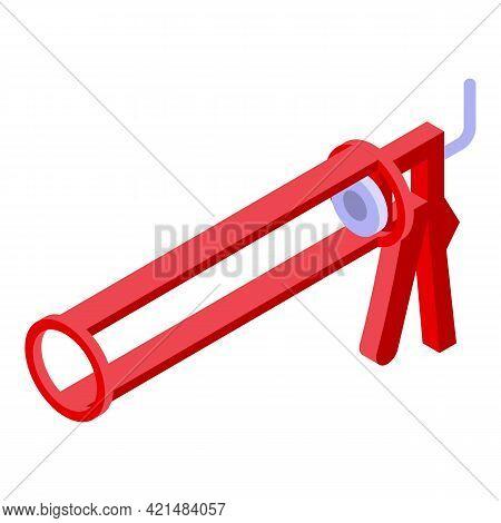 Silicone Caulk Industry Icon. Isometric Of Silicone Caulk Industry Vector Icon For Web Design Isolat