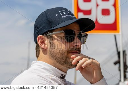 May 21, 2021 - Indianapolis, Indiana, USA: MARCO Andretti (98) of the United States prepares to practice for the 105th Running Of The Indianapolis 500 at the Indianapolis Motor Speedway