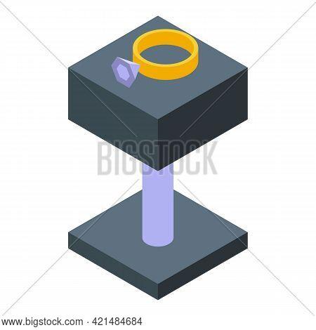 Diamond Ring Jewelry Dummy Icon. Isometric Of Diamond Ring Jewelry Dummy Vector Icon For Web Design