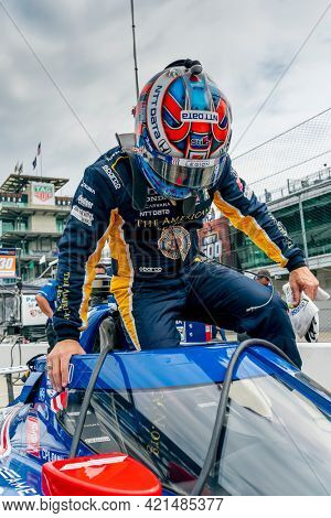May 19, 2021 - Indianapolis, Indiana, USA: TONY KANAAN (48) of Sao Paulo, Brazil prepares to practice for the 105th Running of The Indianapolis 500 at the Indianapolis Motor Speedway