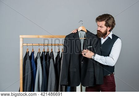 Man Buy Clothes Fashion Store Menswear Suit Tuxedo, Personal Collection Concept