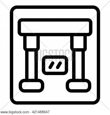 Emergency Breaker Icon. Outline Emergency Breaker Vector Icon For Web Design Isolated On White Backg