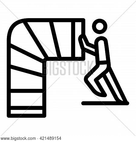 Evacuation Air Channel Icon. Outline Evacuation Air Channel Vector Icon For Web Design Isolated On W