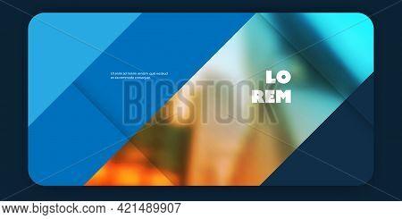 Colorful Design Elements - Header Or Banner, Multi Purpose Creative Design Template For Web User Int