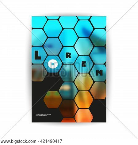 Modern Style Flyer Or Cover Design For Your Business With Blurred Skyscraper, Urban Theme - Applicab