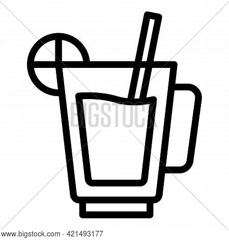 Drink Lunch Icon. Outline Drink Lunch Vector Icon For Web Design Isolated On White Background