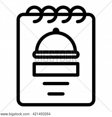 Business Lunch Order Icon. Outline Business Lunch Order Vector Icon For Web Design Isolated On White