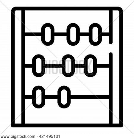 Manual Calculator Icon. Outline Manual Calculator Vector Icon For Web Design Isolated On White Backg