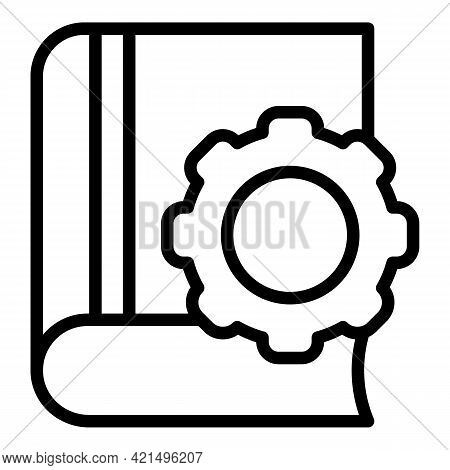 Education Tutorials Icon. Outline Education Tutorials Vector Icon For Web Design Isolated On White B