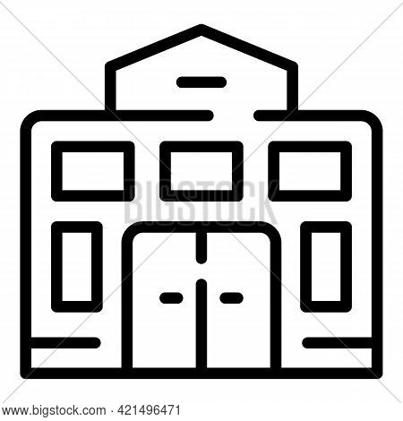 College School Building Icon. Outline College School Building Vector Icon For Web Design Isolated On