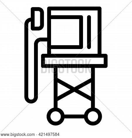 Shock Defibrillator Icon. Outline Shock Defibrillator Vector Icon For Web Design Isolated On White B