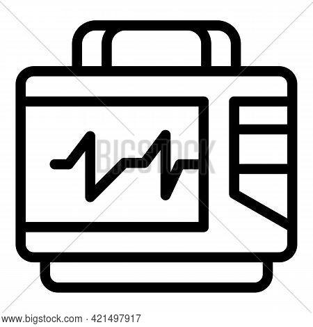 Rescue Defibrillator Icon. Outline Rescue Defibrillator Vector Icon For Web Design Isolated On White