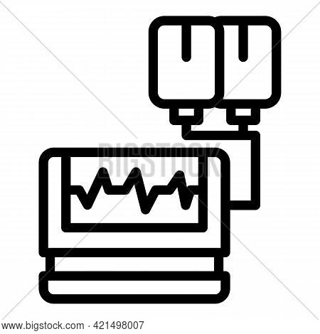 Pulse Defibrillator Icon. Outline Pulse Defibrillator Vector Icon For Web Design Isolated On White B