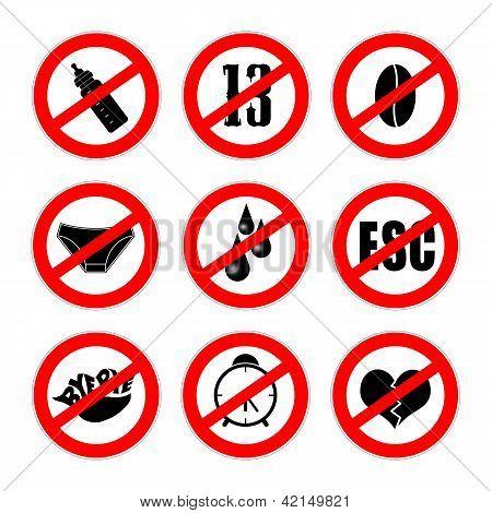 Alternative Prohibition Signs