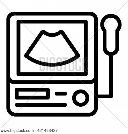 Medical Ultrasound Icon. Outline Medical Ultrasound Vector Icon For Web Design Isolated On White Bac