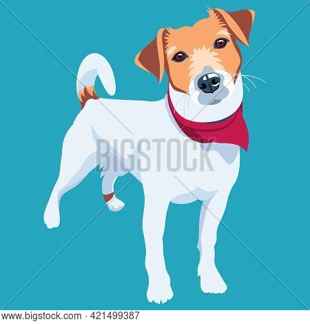 Dog Jack Russell Terrier Icon Flat Design