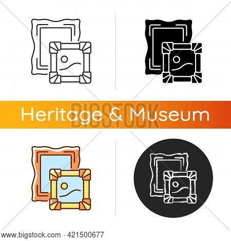 Paintings Icon. Portraiture, Landscape. Museum Collections. Scenes From Daily Life Depiction. Artist