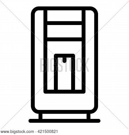 Merchandise Vending Machine Icon. Outline Merchandise Vending Machine Vector Icon For Web Design Iso