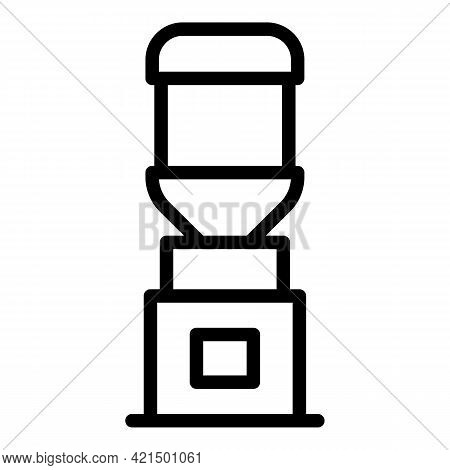Aqua Cooler Icon. Outline Aqua Cooler Vector Icon For Web Design Isolated On White Background