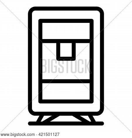 Portable Aqua Cooler Icon. Outline Portable Aqua Cooler Vector Icon For Web Design Isolated On White