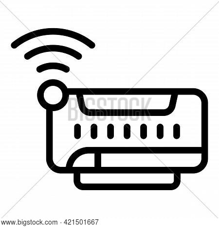 Wifi Router Icon. Outline Wifi Router Vector Icon For Web Design Isolated On White Background