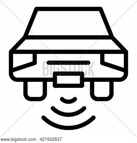 Autonomous Auto Icon. Outline Autonomous Auto Vector Icon For Web Design Isolated On White Backgroun