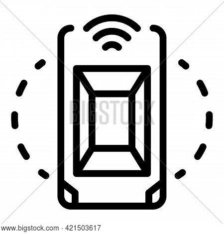 Autonomous Transport Icon. Outline Autonomous Transport Vector Icon For Web Design Isolated On White